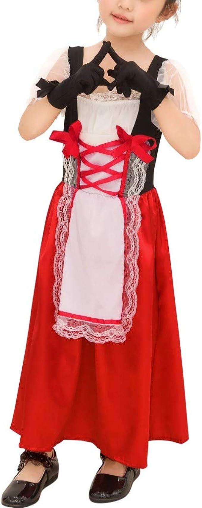 K-Youth Disfraz de Caperucita Roja de Halloween para Niñas ...