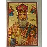 Print St. Nicholas Orthodox vintage religious Icon - size 4 (ICON-057)