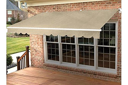 Taylor Made Retractable Awning 17'W x 10'L, Right Motor, Sunbrella Linen ()