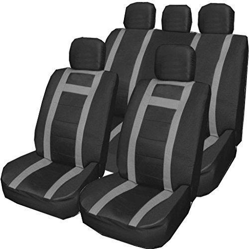 Wheels N Bits Isuzu D-Max Trooper Frontier Rodeo 4x4 GREY /& BLACK Universal PU Leather Type Car Seat Covers Full Set
