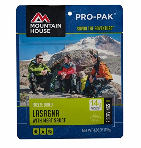 Mountain House Lasagna with Meat Sauce (Mountain House Freeze Dried Entrees)
