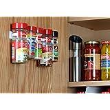 SpiceStor Organizer Rack 20 Cabinet Door Spice Clips