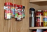 SpiceStor Organizer Rack 20 Cabinet Door Spice Clips (Kitchen)