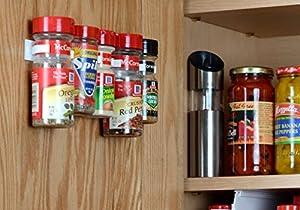 spicestor organizer rack 20 cabinet door spice