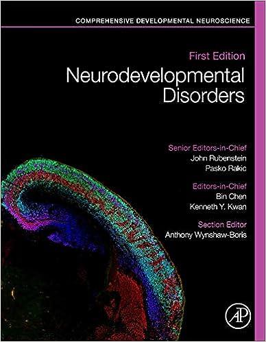 Neurodevelopmental Disorders Comprehensive Developmental Neuroscience