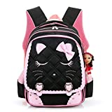 Fanci Cute Cat Face Bowknot Elementary School Backpack Bookbag for Girls Princess Style Primary School Bag For Sale