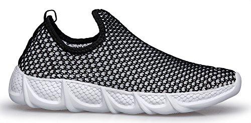 Dreamcity Womens Lightweight Mesh Slip-On Loafer Running Walking Shoes Black 9LoNGJ