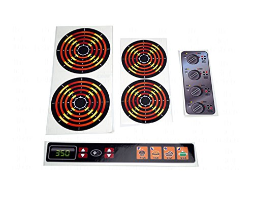 Decals Stickers DIY Kids Play Kitchen 4 Burners Dials and Oven Panel Toy Stove Pretend Glossy Full - Stove Stickers