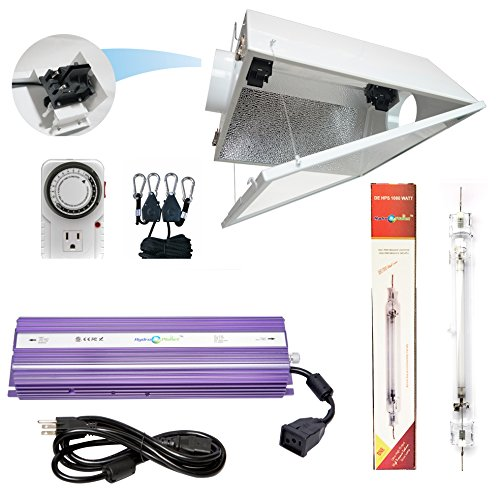 Hydroplanet™ Double Ended Air Cooled Hood Hydroponic Grow Lights Kit DE Reflector Hood With Dimmable Digital Ballast HPS LAMPS Horticulture Plant Grow System Set¡­ Review