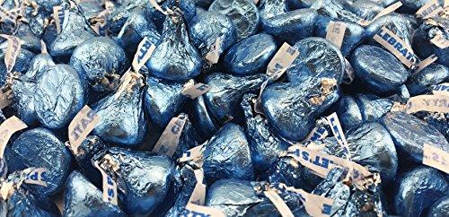 Hersheys Kisses, Milk Chocolate in Light Blue Foils (Pack of 2 Pound)