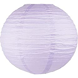 "Just Artifacts 24"" Lavender Purple Chinese/Japanese Paper Lantern/Lamp 24"" Diameter - Just Artifacts Brand"