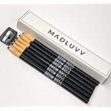 Best Microblading Pre Draw Pencils, Black with Sharpener (6 Pack)