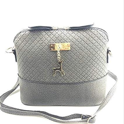 Misss Beauty 2018 Women Shoulder Bags Fashion Mini Bag with Deer Toy Shell  Shape Women Small Messenger Crossbody Bag Ladies Zipper Handbags Gray   Amazon.in  ... 1305ecabe0e59