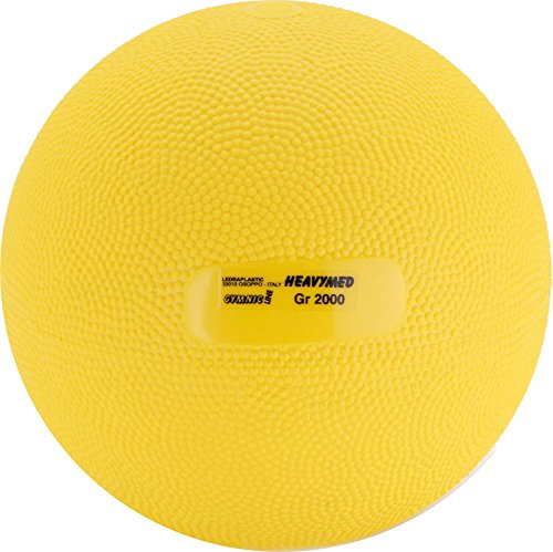 Gymnic Heavymed 2 Medicine Ball, Yellow (15 cm, 2 kg / 4.4 lbs) by Gymnic