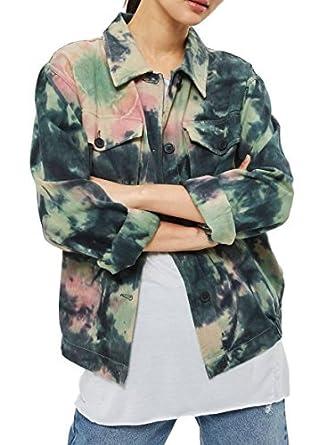 De Dye Multicolore Topshop And Denim Shacket Regard Femmes Tie Veste xwqxYpFT