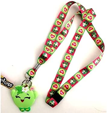 Shopkins Apple Lanyard keychain Holder with Charm