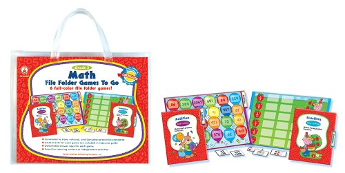 Math Folder Games Educational Board product image