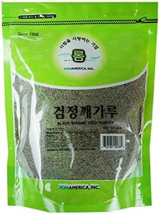 ROM AMERICA [ 16 oz ] Black Sesame Seed Powder Instant Breakfast Drinks 검정깨가루