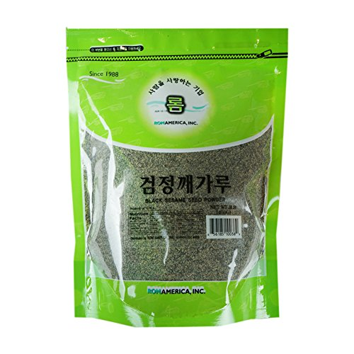 ROM AMERICA [ 16 oz ] Black Sesame Seed Powder Instant Breakfast Drinks 검정깨가루 ()