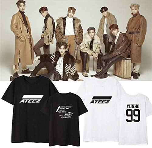 Uniseks T-shirt z Korei Południowej Hip Hop Kpop ATEEZ T-shirt Casual Shirt HONGJOONG JONGHO MINGI SAN SEONGHWA WOOYOUNG YEOSANG Yunho: Odzież