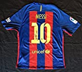 Lionel Messi Autographed FBC Barcelona Team Jersey - PSA/DNA COA - (signed on back)