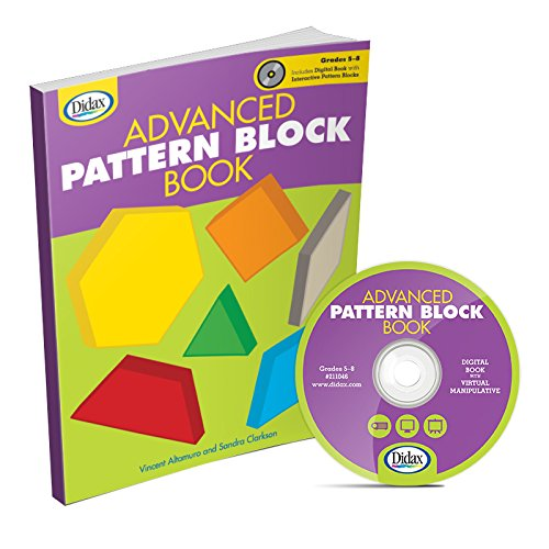 Didax Educational Resources Advanced Pattern Block Book, Gr. 5-8