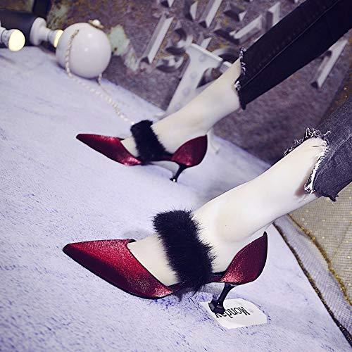 GTVERNH Frauen Schuhe Mingyuan 6 cm High High High Heels Slim - Heels Spitze Sexy Mittlere Heels Einzelne Schuhe Farbabstimmung Side Space 5c54d5