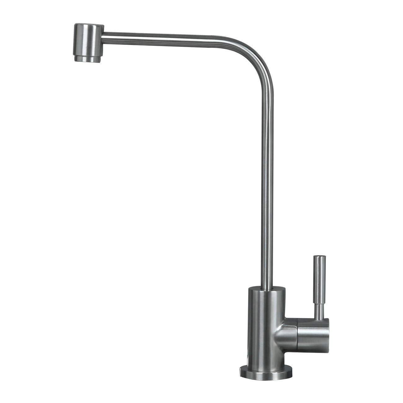 Water Filter Faucet, Fits most reverse osmosis water filtration system, Kitchen Bar Sink Purifier Drinking Water Faucet, Stainless Steel,Lead-Free, Brushed, Single Handle