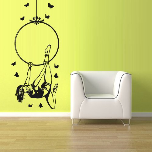 wall-vinyl-sticker-decals-decor-art-bedroom-design-mural-acrobat-acrobatic-girl-gymnastic-z1115