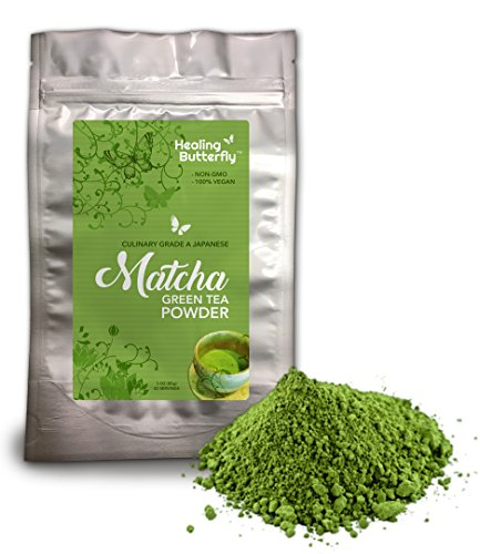 Matcha Green Tea Powder, Organic Japanese Premium Grade, 100% Vegan, Packed with Nutrients and Antioxidants, Boosts Your Metabolism And Tastes Great, [85g, 3oz, 42 Servings]