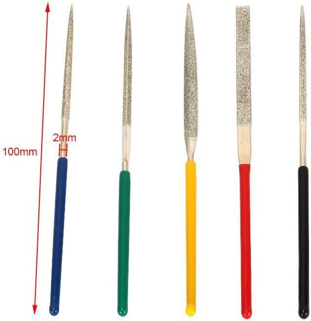 5pcs 2mm*100mm Diamond Needle File Set Diamond Grinding Tool For Metal Tile