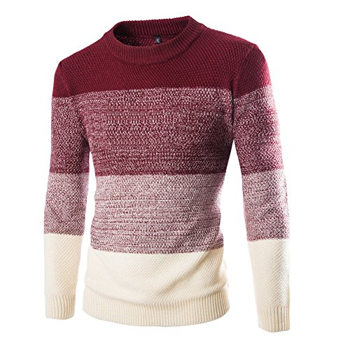 Zicac+Men%27s+Casual+Fashion+Pullover+Sweater+Assorted+Color+Knitwear+%28XL%2C+Wine+Red%29