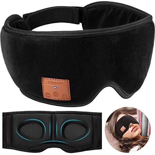 Sleep Headphones 3D Eye Mask, Bluetooth 5.0 Wireless Music Mask, Eye Shade Cover with Ultra-Thin HD Speakers Adjustable, Blindfold for Men Women Sleeping, Travel, Meditation