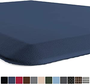 GORILLA GRIP Original Premium Anti-Fatigue Comfort Mat, Phthalate Free, Ships Flat, Ergonomically Engineered, Extra Support and Thick, Kitchen and Office Standing Desk, 39x20, Navy Blue