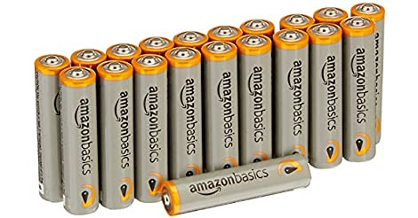 20-Pack AmazonBasics AAA Performance 1.5V Alkaline Batteries only $1.63