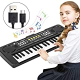 ElectronicPiano Keyboard, 37 Key Music Keyboard Piano for Kids, Portable Musical Instrument Multi-function Keyboard for Kids Piano Music Teaching Toys