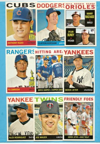 (2013 Topps Heritage Baseball Complete Mint Basic 425 Card Hand Collated Set)