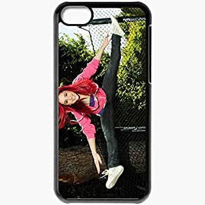 Personalized iPhone 5C Cell phone Case/Cover Skin Ariana Grande Black
