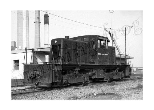 Georgia Power Company Diesel Locomotive  2 5X7 Smoke Stacks