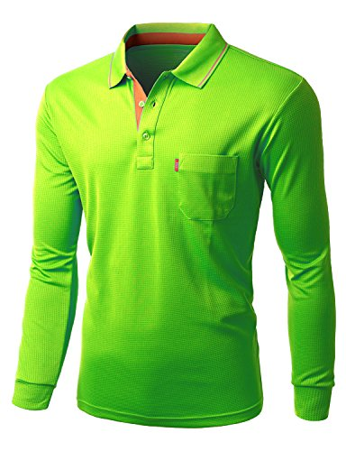 Mens Cool Max Fabric Or Cotton Sporty Design 2 Tone Collar Polo T Shirt
