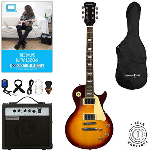 Stretton Payne LP Electric Guitar with practice amplifier, padded bag,...