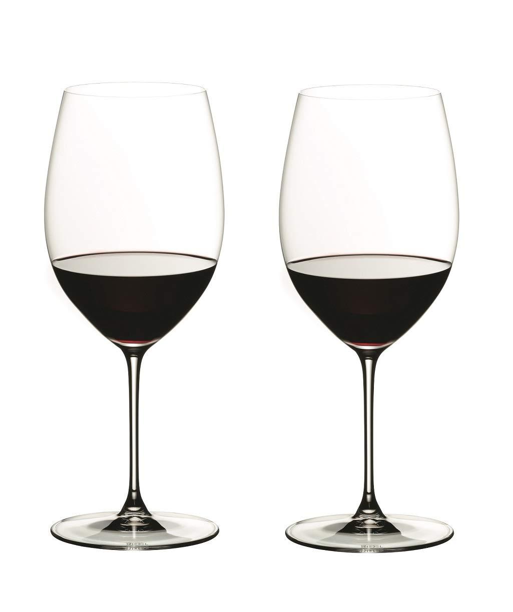Riedel 6449/0 Veritas Cabernet/Merlot Wine Glasses, Set of 2, Clear by Riedel (Image #1)