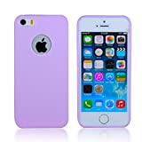 5s cases jelly - iPhone SE/5S/5 Case,CLOUDS [Jelly Colorful Series] Ultra Slim Lightweight Classic Design Durable Soft Rubber TPU Silicone Gel New Case Cover for iPhone 5s/5/se - with a HD Protector - purple