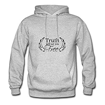 Grey Truth Will Set You Free Creative Design X-large 100% Cotton Women Hoodies