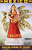 Mexico Lady with Fruit Basket. Vintage Advertising Travel Reproduction Print Poster (16.75 x 26)