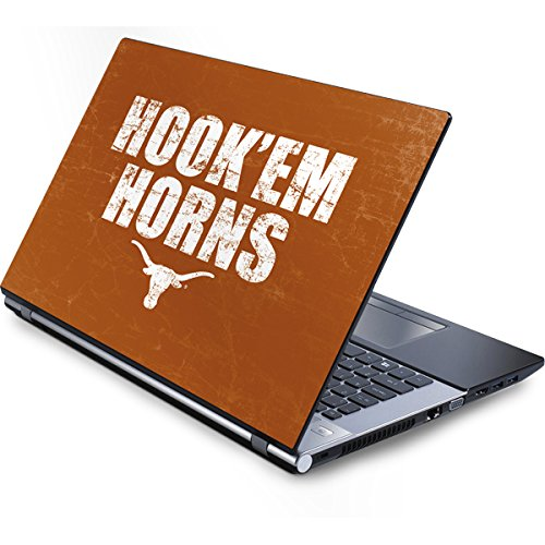 Skinit University of Texas at Austin Generic 12in Laptop (10.6in X 8.3in) Skin - Texas Longhorns Hook Em Design - Ultra Thin, Lightweight Vinyl Decal Protection