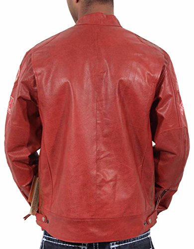 diferentes Hombre Real piel Urban modo Retro Bikers en JLI para Niño disponible nbsp;colores Rosso hombre Aviatrix 3 Vintage Look TCqdT
