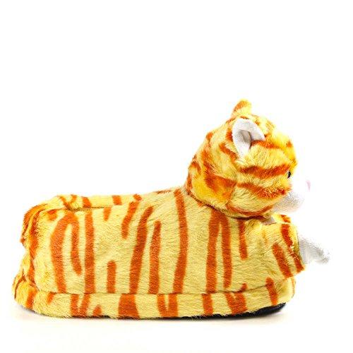 Sleeper'z Rutschfeste Plüsch-Hausschuhe Katze