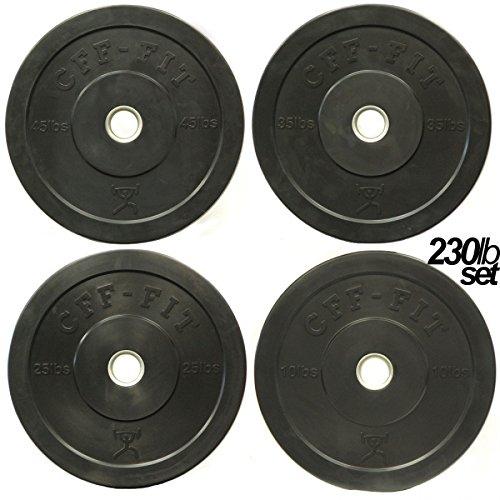 CFF Rubber Bumper Plates 230 lb Set