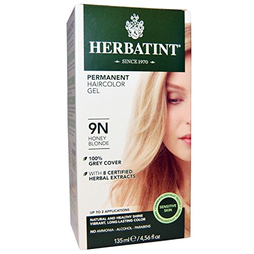 Herbatint, Permanent Haircolor Gel, 9N, Honey Blonde, 4.56 fl oz (135 ml) - 2pc by Herbatint